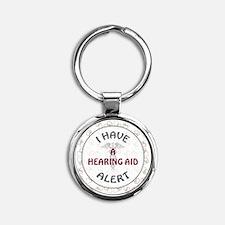 A HEARING AID Round Keychain
