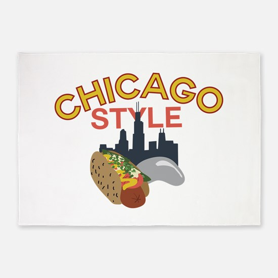 Chicago Style 5'x7'Area Rug