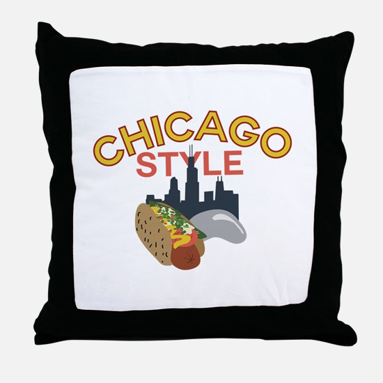 Chicago Style Throw Pillow