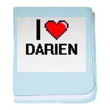 I Love Darien baby blanket