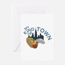 My Town Greeting Cards