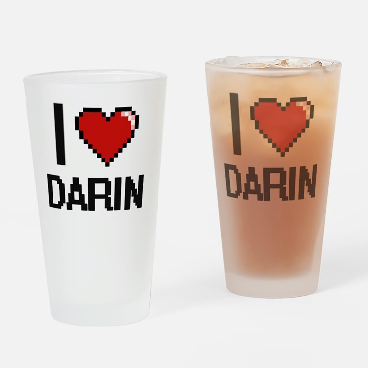 Cute Darin Drinking Glass