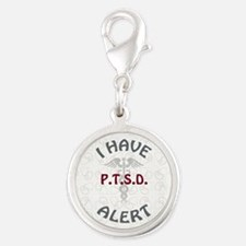 P.T.S.D. Silver Round Charm
