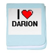 I Love Darion baby blanket