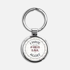 A VALID DNR Round Keychain