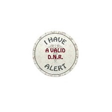 A VALID DNR Mini Button