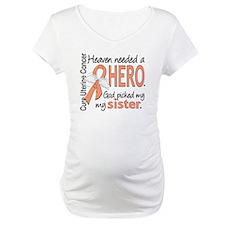 Uterine Cancer HeavenNeededHero1 Shirt