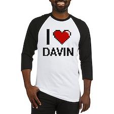 I Love Davin Baseball Jersey