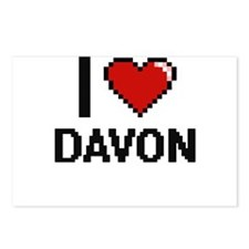 I Love Davon Postcards (Package of 8)