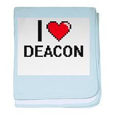 I Love Deacon baby blanket