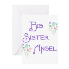 Big Sister Angel Greeting Cards (Pk of 10)