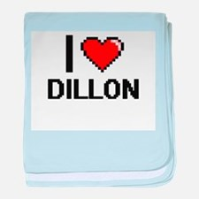 I Love Dillon baby blanket