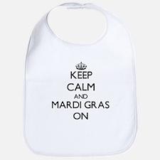 Keep Calm and Mardi Gras ON Bib