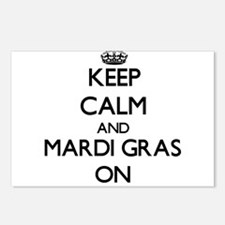 Keep Calm and Mardi Gras Postcards (Package of 8)