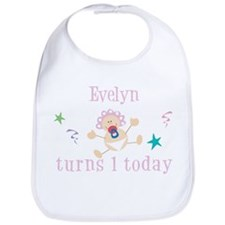 Evelyn turns 1 today Bib