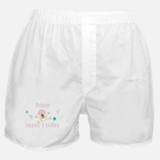 Tristen turns 1 today Boxer Shorts