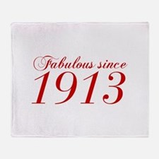 Fabulous since 1913-Cho Bod red2 300 Throw Blanket