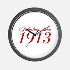 Fabulous since 1913-Cho Bod red2 300 Wall Clock