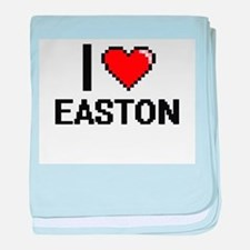 I Love Easton baby blanket
