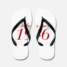 Fabulous since 1946-Cho Bod red2 300 Flip Flops