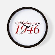 Fabulous since 1946-Cho Bod red2 300 Wall Clock