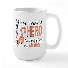 Uterine Cancer HeavenNeededHero1 Mug