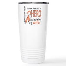 Uterine Cancer HeavenNe Travel Mug