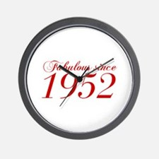 Fabulous since 1952-Cho Bod red2 300 Wall Clock