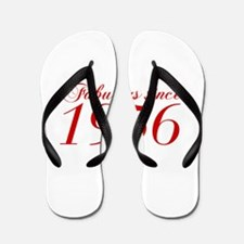 Fabulous since 1956-Cho Bod red2 300 Flip Flops