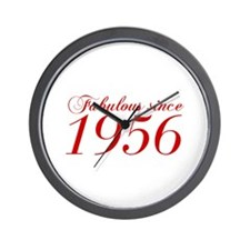 Fabulous since 1956-Cho Bod red2 300 Wall Clock