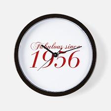 Fabulous since 1956-Cho Bod red2 300 Wall Clock