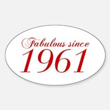 Fabulous since 1961-Cho Bod red2 300 Decal