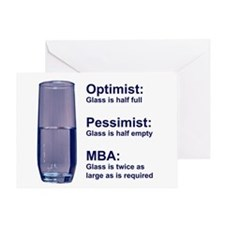 MBA Half Full Greeting Card
