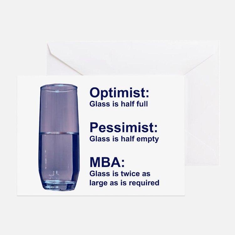 MBA Half Full Greeting Card