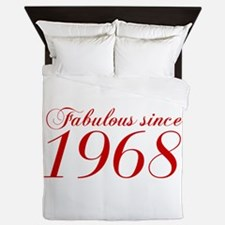Fabulous since 1968-Cho Bod red2 300 Queen Duvet