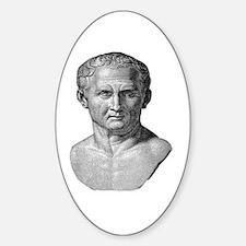 """""""Marcus Tullius Cicero"""" Oval Decal"""
