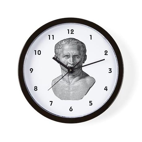 """""""Marcus Tullius Cicero"""" Wall Clock"""