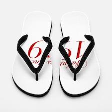 Fabulous since 1979-Cho Bod red2 300 Flip Flops
