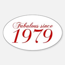 Fabulous since 1979-Cho Bod red2 300 Decal