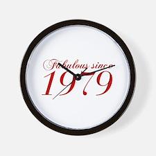Fabulous since 1979-Cho Bod red2 300 Wall Clock
