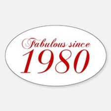 Fabulous since 1980-Cho Bod red2 300 Decal