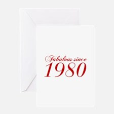 Fabulous since 1980-Cho Bod red2 300 Greeting Card