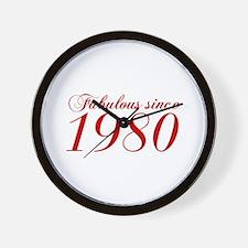 Fabulous since 1980-Cho Bod red2 300 Wall Clock