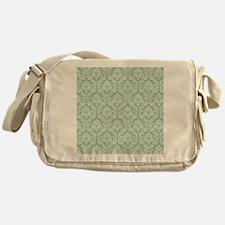 Jade green damask pattern Messenger Bag
