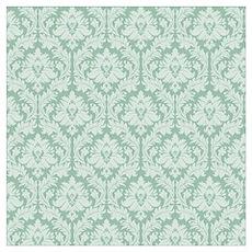 Jade green damask pattern Poster