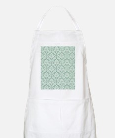 Jade green damask pattern Apron