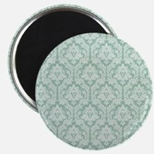 Jade green damask pattern Magnet