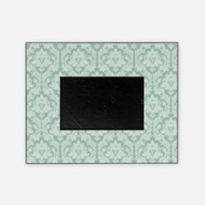 Jade green damask pattern Picture Frame
