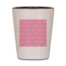 Cute Pink damask Shot Glass