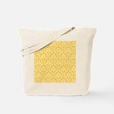 Yellow damask pattern Tote Bag